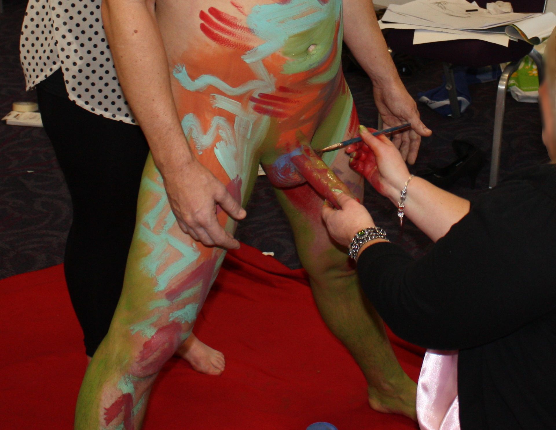 Something also Cfnm body painting the valuable